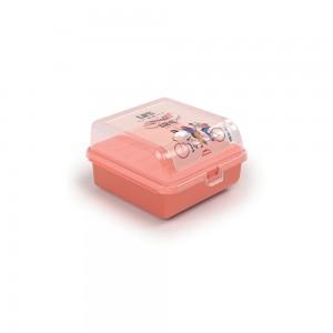 Imagem do produto - Sanduicheira de Plástico com Tampa Fixa, Trava e 2 Compartimentos Tropical