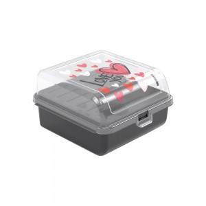 Imagem do produto - Sanduicheira de Plástico com Tampa Fixa, Trava e 2 Compartimentos Fun