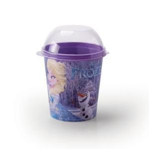 Imagem do produto - Pote de Plástico 600 ml com Tampa Fixa Frozen