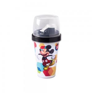 Imagem do produto - Mini Shakeira de Plástico 320 ml com Misturador, Fechamento Rosca e Sobretampa Articulável Mickey