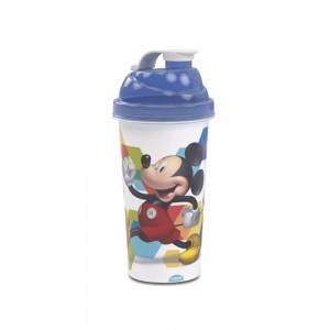 Imagem do produto - Shakeira de Plástico 580 ml com Tampa Rosca e Misturador Mickey Roadster Racers