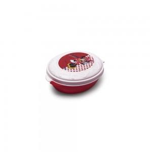 Imagem do produto - Conjunto de Potes de Plástico com Tampa Fixa em Formato Retrô Minnie 8 Unidades