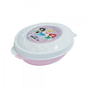 Imagem do produto - Pote de Plástico com Tampa Fixa em Formato Retrô Princesas