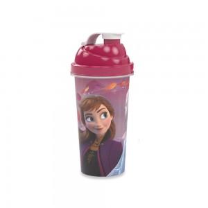 Imagem do produto - Shakeira de Plástico 580 ml com Tampa Rosca e Misturador Frozen