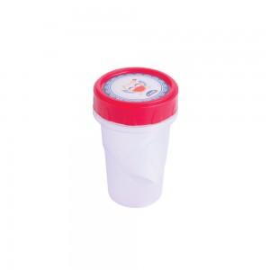Imagem - Pote de Plástico Redondo 90 ml Rosca Coruja 006668-2376 Vermelho