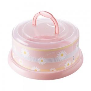 Imagem do produto - Boleira de Plástico Redonda com Tampa Rosca e Alça Camomila