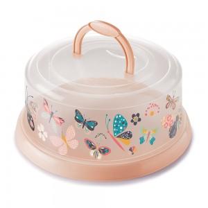 Imagem do produto - Boleira de Plástico Redonda com Tampa Rosca e Alça Borboleta