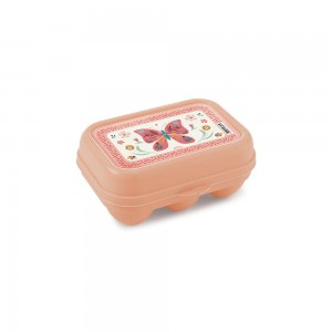 Imagem do produto - Porta Ovos de Plástico com Tampa Fixa Borboleta 6 Unidades