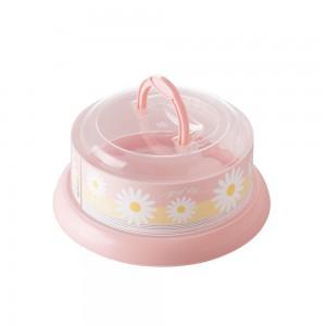 Imagem do produto - Queijeira de Plástico Redonda com Tampa Rosca e Alça Camomila