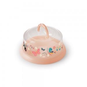 Imagem do produto - Queijeira de Plástico Redonda com Tampa Rosca e Alça Borboleta