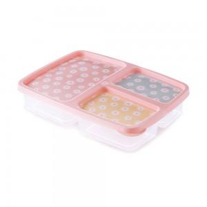 Imagem do produto - Pote de Plástico Retangular 1 L com 3 Divisórias Clic Camomila