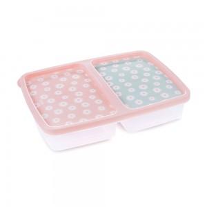 Imagem do produto - Pote de Plástico Retangular 1 L com 2 Divisórias Clic Camomila
