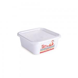 Imagem do produto - Pote de Plástico Retangular 450 ml com Tampa Fixa Duo Flamingo