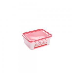 Imagem do produto - Pote de Plástico Retangular 800 ml com Tampa Fixa Duo Flamingo