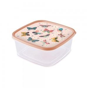 Imagem do produto - Pote de Plástico Quadrado 2,85 L Clic Borboleta