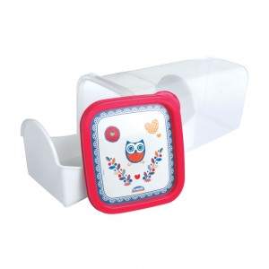 Imagem do produto - Porta Biscoito ou Torrada de Plástico Coruja
