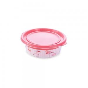 Imagem do produto - Pote de Plástico Redondo 190 ml com Tampa Fixa Duo Flamingo