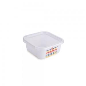 Imagem do produto - Pote de Plástico Retangular 220 ml com Tampa Fixa Duo Flamingo