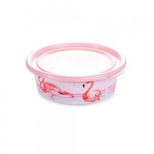 Imagem do produto - Pote de Plástico Redondo 400 ml com Tampa Fixa Duo Flamingo