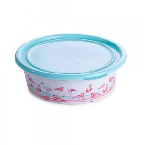 Imagem do produto - Pote de Plástico Redondo 900 ml com Tampa Fixa Duo Flamingo