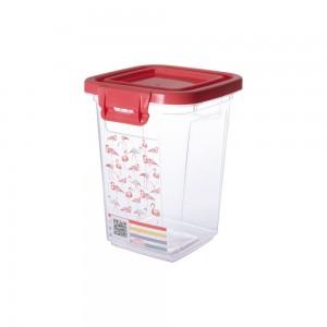 Imagem do produto - Pote de Plástico Retangular 980 ml com Tampa Fixa e Trava Duo Flamingo