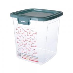 Imagem do produto - Pote de Plástico Retangular 3,2 L com Tampa Fixa e Trava Duo Flamingo