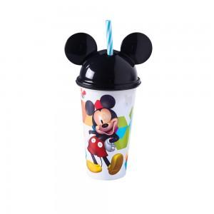Imagem do produto - Copo de Plástico 500 ml com Tampa em Formato de Orelha e Canudo Mickey