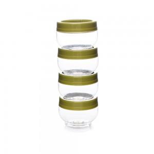 Imagem do produto - Kit Organizador de Plástico Gire e Trave Pequeno 4 Unidades