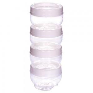 Imagem do produto - Conjunto Organizador de Plástico Gire e Trave 4 Unidades P Branco