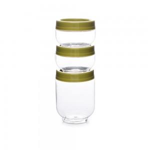 Imagem do produto - Kit Organizador de Plástico Gire e Trave Pequeno 3 Unidades
