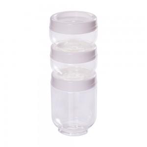 Imagem do produto - Conjunto Organizador de Plástico Gire e Trave 3 Unidades P Branco