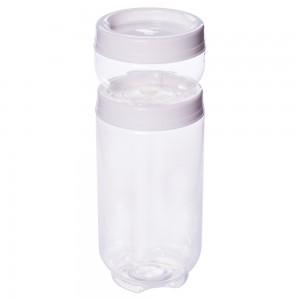 Imagem do produto - Conjunto Organizador de Plástico Gire e Trave 2 Unidades P Branco