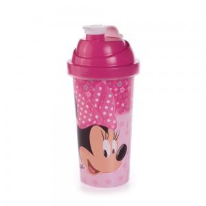 Imagem do produto - Shakeira de Plástico 580 ml com Tampa Rosca e Misturador Minnie