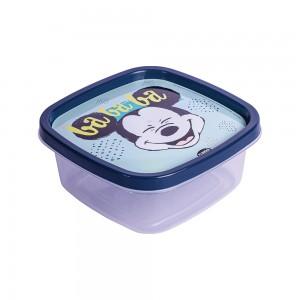 Imagem do produto - Pote de Plástico Quadrado 580 ml Mickey Baby Clic