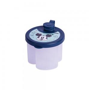 Imagem do produto - Dosador de Leite em Pó de Plástico com 3 Compartimentos Tampa Encaixável e Bico Direcionador Mickey Baby