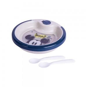 Imagem do produto - Prato Térmico de Plástico 450 ml com Ventosa e 2 Colheres Mickey Baby