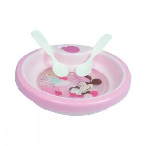 Imagem do produto - Prato Térmico com Ventosa e 2 Colheres | Minnie Baby