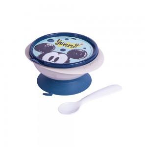 Imagem do produto - Tigela de Plástico 240 ml com Ventosa Colher e Tampa Michey Baby