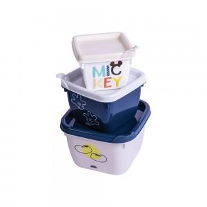 Imagem do produto - Conjunto de Potes Quadrados Conect 3 Unidades Michey Baby