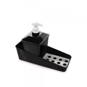 Imagem do produto - Conjunto para Porta Detergente de Plástico com Válvula e Suporte para Esponja