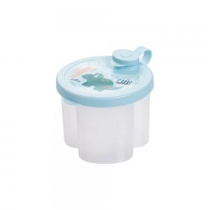 Imagem do produto - Dosador de Leite em Pó de Plástico com 3 Compartimentos Tampa Encaixável e Bico Direcionador Dino
