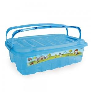 Imagem do produto - Caixa de Plástico Retângular 9,3 L com Tavas Laterais e Alça Oliver