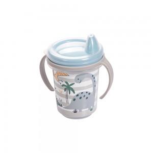 Imagem do produto - Caneca de Plástico 330 ml  para Transição com Alça Removível  e Fechamento Rosca Dino