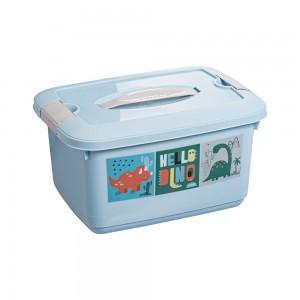Imagem do produto - Caixa de Plástico Retângular 5,2 L com Tavas Laterais e Alça Dino