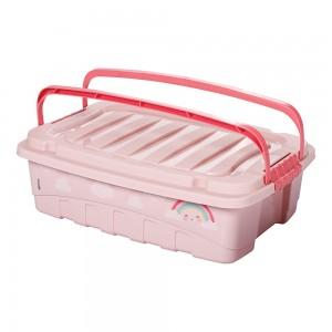 Imagem do produto - Caixa de Plástico Retângular 9,3 L com Tavas Laterais e Alça Baby Princess
