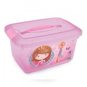 Imagem do produto - Caixa de Plástico Retângular 5,2 L com Tavas Laterais e Alça Baby Princess