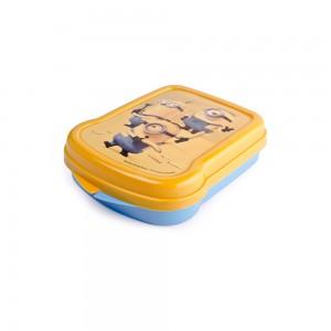 Imagem do produto - Sanduicheira de Plástico com Tampa Fixa Minions