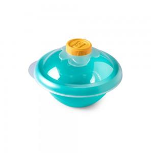 Imagem do produto - Saladeira de Plástico 1,2 L com Tampa e Compartimento Fixo para Molho