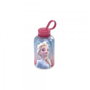 Imagem do produto - Garrafa de Plástico 280 ml com Tampa Rosca e Pegador Fixo Cilíndrica Frozen Elsa