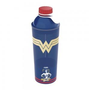 Imagem do produto - Garrafa de Plástico 430 ml com Tampa Rosca Fixa Vip Mulher Maravilha